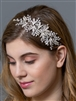 Silver Bridal Headband Vine with Opal Crystals
