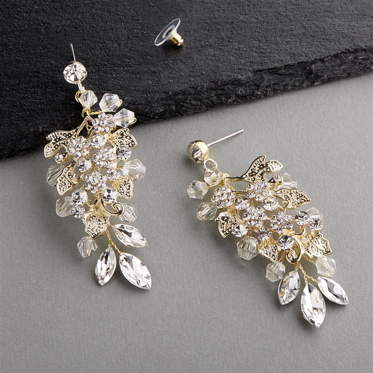 Handmade Statement Gold Earrings for Brides