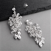Handmade Silver Statement Earrings for Brides