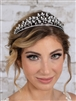 Regal Cubic Zirconia and Pearl Wedding Tiara