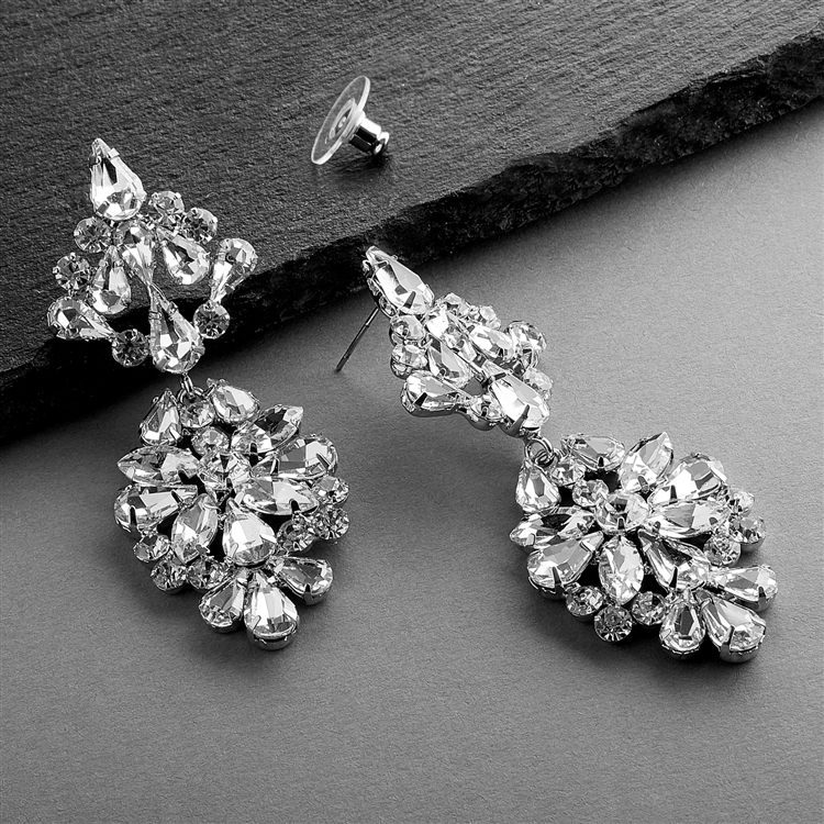Dazzling Crystal Statement Earrings for Weddings