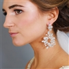 Hand-made Opal Crystal Silver Bridal Earrings