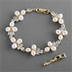 Freshwater Pearl Gold Wedding Bracelet