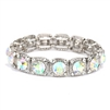 Best-Selling Bridal or Prom Stretch Bracelet with AB Solitaires<br>532B-AB