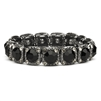 Bridesmaid or Prom Stretch Bracelet with Jet Black Crystals<br>532B-JE