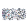 Bold Crystal AB Vine Wedding Stretch Bracelet<br>644B