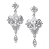 Art Nouveau Cubic Zirconia Wholesale Bridal Earrings<br>741E-CR