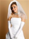 Opera Length Wedding or Prom Gloves - Shiny Satin<br>824GL-2
