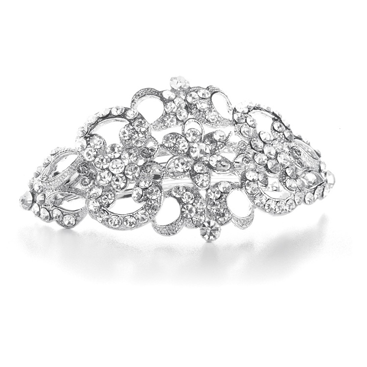 Art Deco Crystal Barrette<br>860HB