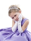 Children's Satin Elbow Gloves<br>882GL