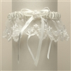 Vintage Irish Lace Inspired Wedding Garter - Ivory<br>G029-I-I