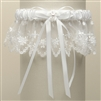 Vintage Irish Lace Inspired Wedding Garter - White<br>G029-W-W