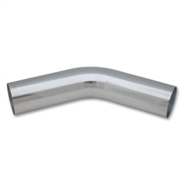 "Polished Aluminum 45-Degree Tubing, 1.50"" Diameter, Vibrant Performance, VIB-2156, 2156"