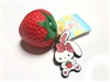 Bunny's Cafe Tropical Fruit Series Strawberry Tag Squishy