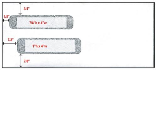 double window check envelope  8 u0026quot  x 9 1  2