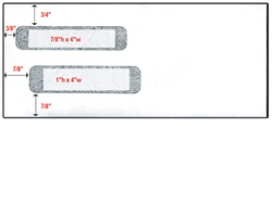 "Reverse Flap Double Window Envelope - Size 10 (4 1/8"" X 9 1/2"")"