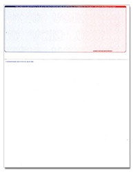 Top Form Laser Check - Blue-Red, 1 Perforation, with Control #