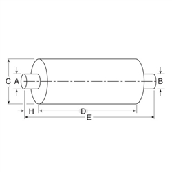 Nelson Global Products muffler, part number 86186M.