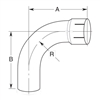 Nelson Global Products elbows, part number 89108A.
