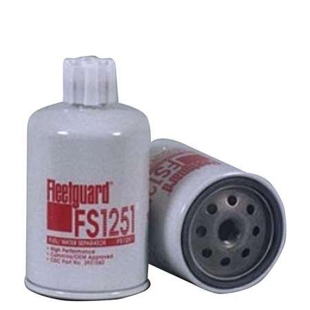 filter fuel f002h20308 12 pack fs1251 - fleetguard fuel water separator | free ...