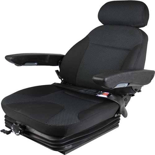 Concentric Low Profile Air Suspension Seat Black 47301 BK