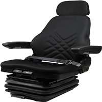 Concentric High Profile Seat with Heavy Duty Air Suspension, Black 76021-BK
