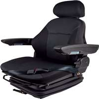 Concentric Heavy Duty Mechanical Suspension Seat with Adjustable Armrests & Headrest