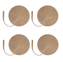 "3"" ROUND TAN CLOTH TENS ELECTRODE PADS"