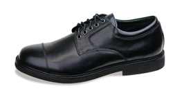 Aetrex Men's LT600 Lexington Cap Toe Oxford- Black