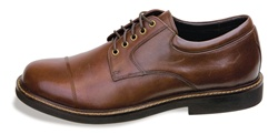 Aetrex Men's LT610 Lexington Cap Toe Oxford- Brown