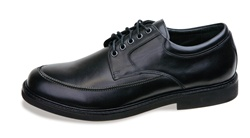 Aetrex LT900 Lexington Moc Toe Oxford- Black
