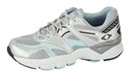 Aetrex Women's X527 Boss Runner - Silver/Sea Blue