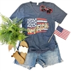 American Flag t-shirt Southern boutique wholesale graphic tee clothing by Pink Armadillos. Printed on our super soft Bella Canvas tees.