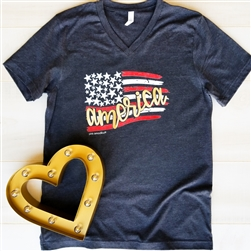 American Flag...Vintage Boyfriend V-neck Tee Pack of 6