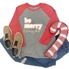 Be Merry & Bright southern boutique wholesale graphic tee clothing by Pink Armadillos. Printed on our super soft Bella Canvas tees.