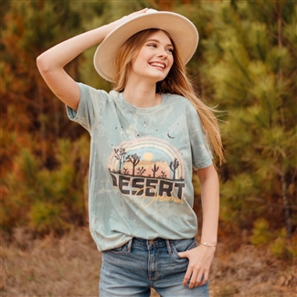 Desert Dreamin' T shirt Southern boutique wholesale graphic tee clothing by Pink Armadillos. Printed on our super soft Bella Canvas tees.