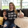 I'd love to But my Dog said No t shirt. Southern boutique wholesale graphic tee clothing by Pink Armadillos. Printed on our super soft Bella Canvas tees.