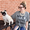 My Dog Thinks I'm Cool t shirt. Southern boutique wholesale graphic tee clothing by Pink Armadillos. Printed on our super soft Bella Canvas tees.