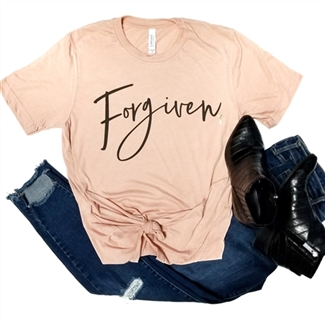 Forgiven t shirt. Southern boutique wholesale graphic tee clothing by Pink Armadillos. Printed on our super soft Bella Canvas tees.