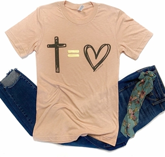 God Equals Love graphic t shirt. Southern boutique wholesale graphic tee clothing by Pink Armadillos. Printed on our super soft Bella Canvas tees.