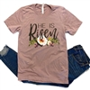 He is Risen in her heart graphic tee. Southern boutique wholesale graphic tee clothing by Pink Armadillos. Printed on our super soft Bella Canvas tees.
