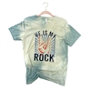 He Is My Rock T shirt Southern boutique wholesale graphic tee clothing by Pink Armadillos. Printed on our super soft Bella Canvas tees.