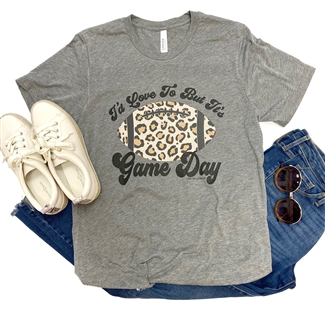 I'd Love To But It's Game Day t shirt. Southern boutique wholesale graphic tee clothing by Pink Armadillos. Printed on our super soft Bella Canvas tees.