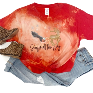 Jingle All The Way Toddler t shirt. Southern boutique wholesale graphic tee clothing by Pink Armadillos. Printed on our super soft Bella Canvas tees.