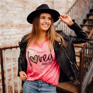 Loved John 3:16 t shirt. Southern boutique wholesale graphic tee clothing by Pink Armadillos. Printed on our super soft Bella Canvas tees.