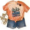 Lake Vibes boutique wholesale graphic tee by Pink Armadillos