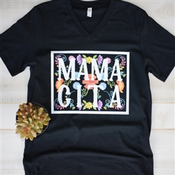 Mamacita wholesale boutique graphic tee by Pink Armadillos