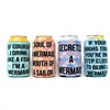 Mermaid Collection... 12 Ounce Koozie Pack of 4