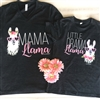Mama Llama...Little Drama Llama....Mommy and Me Matching YSet of 2 Shirts