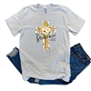 My Redeemer Lives graphic tee. Southern boutique wholesale graphic tee clothing by Pink Armadillos. Printed on our super soft Bella Canvas tees.